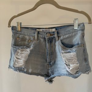 brandy melville ripped shorts